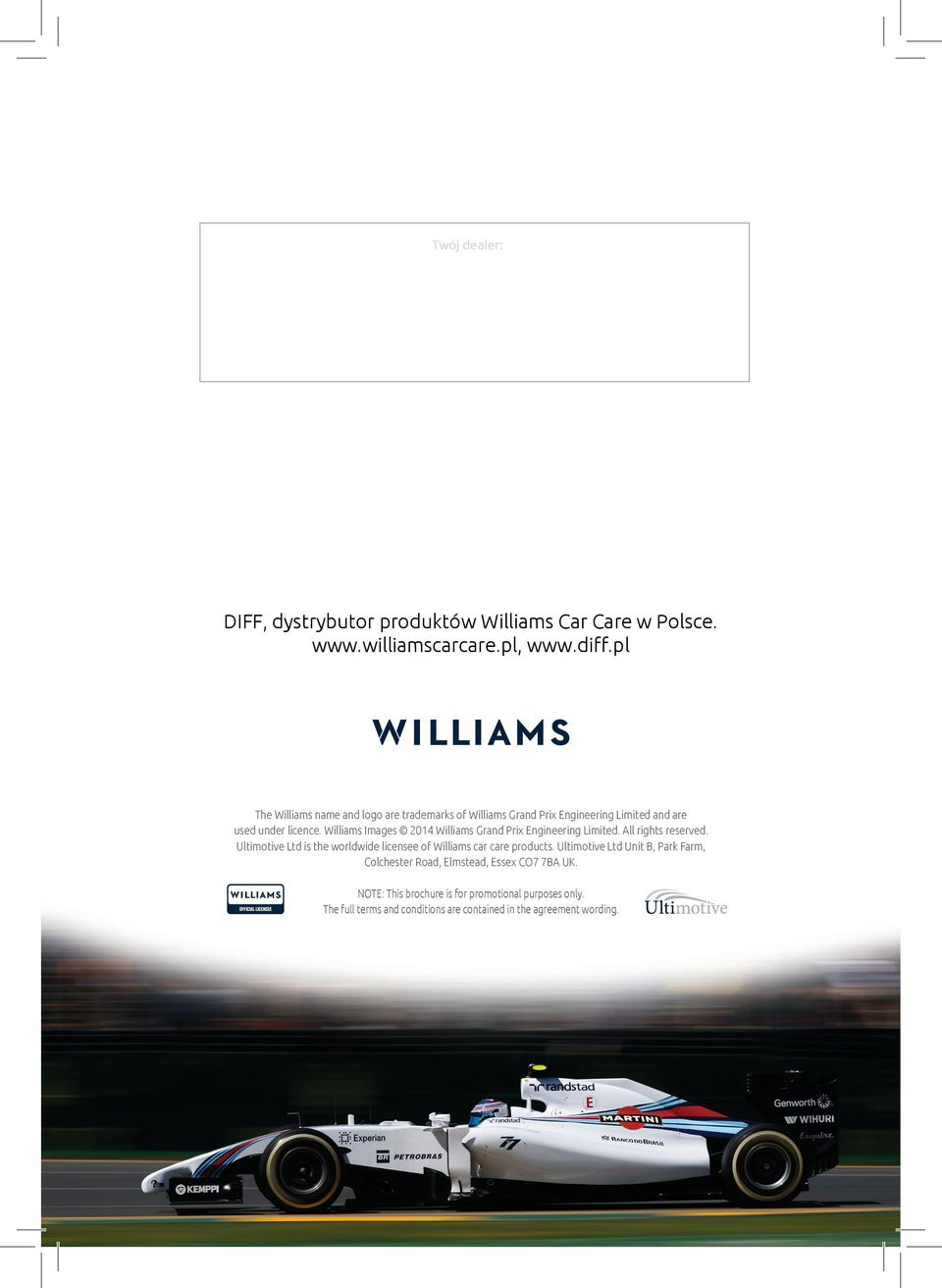 Williams Images 2014 Williams Grand Prix Engineering Limited. All rights reserved.