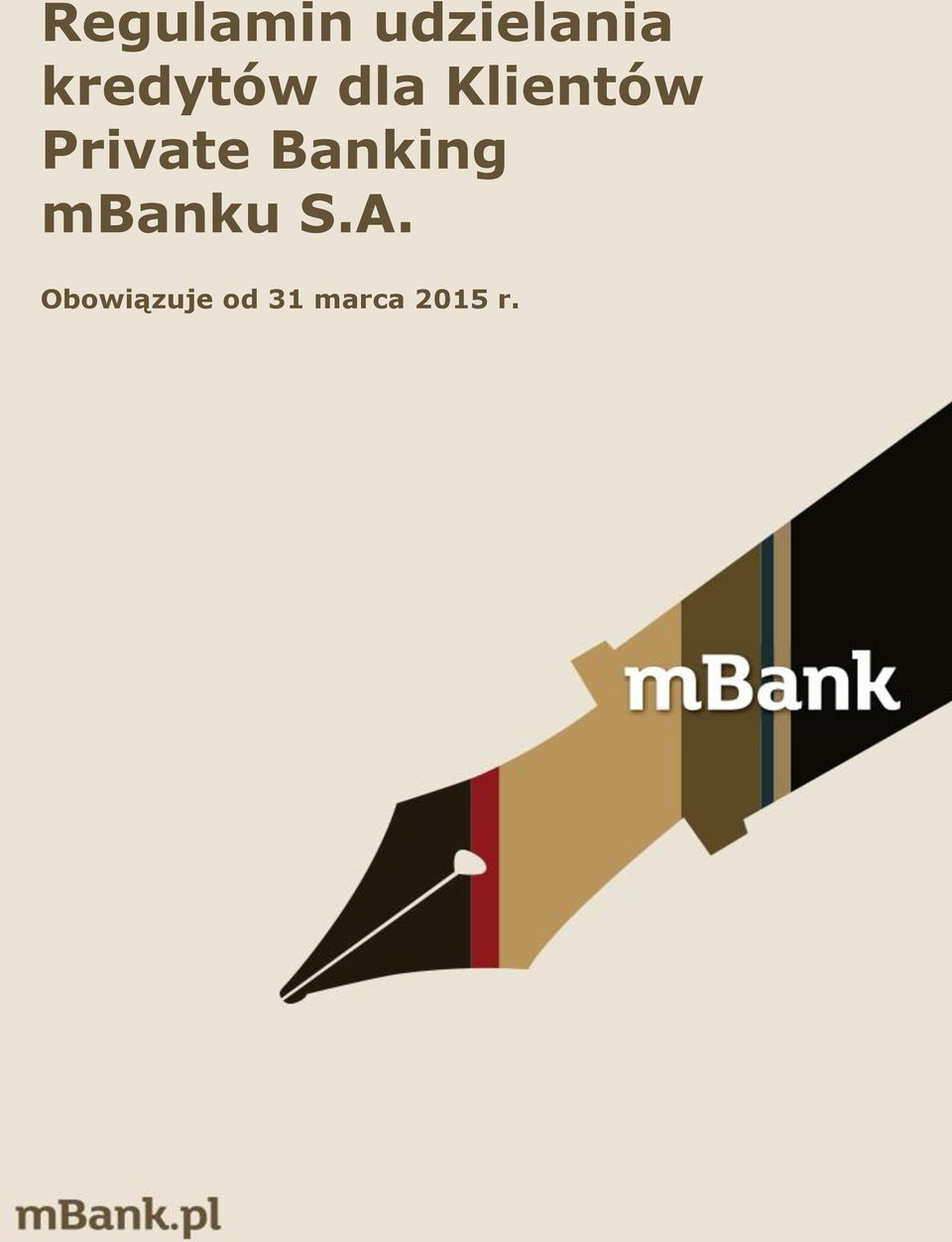 Private Banking mbanku S.