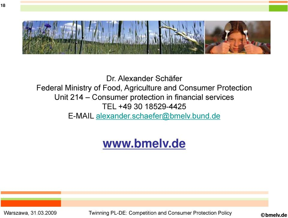 and Consumer Protection Unit 214 Consumer protection in