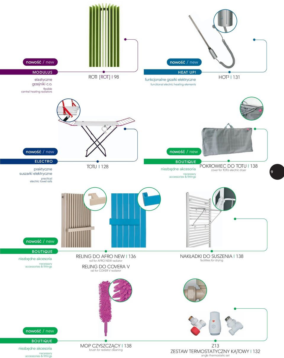 niezbędne akcesoria necessary accessories & fittings POKROWIEC DO TOTU I 138 cover for TOTU electric dryer 9 nowość / new BOUTIQUE niezbędne akcesoria necessary accessories & fittings RELING DO AFRO