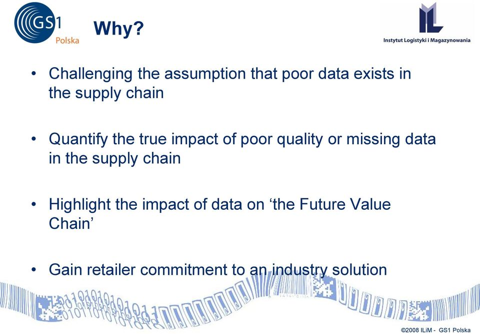 missing data in the supply chain Highlight the impact of data