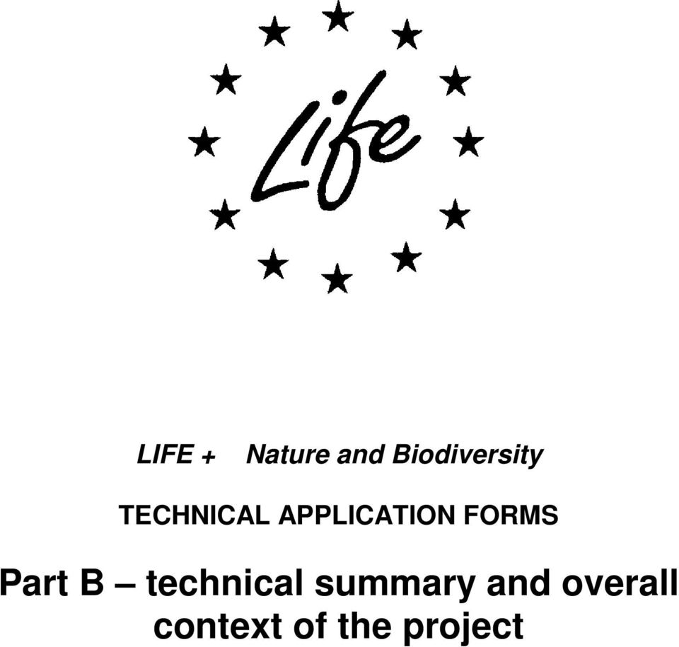 APPLICATION FORMS Part B