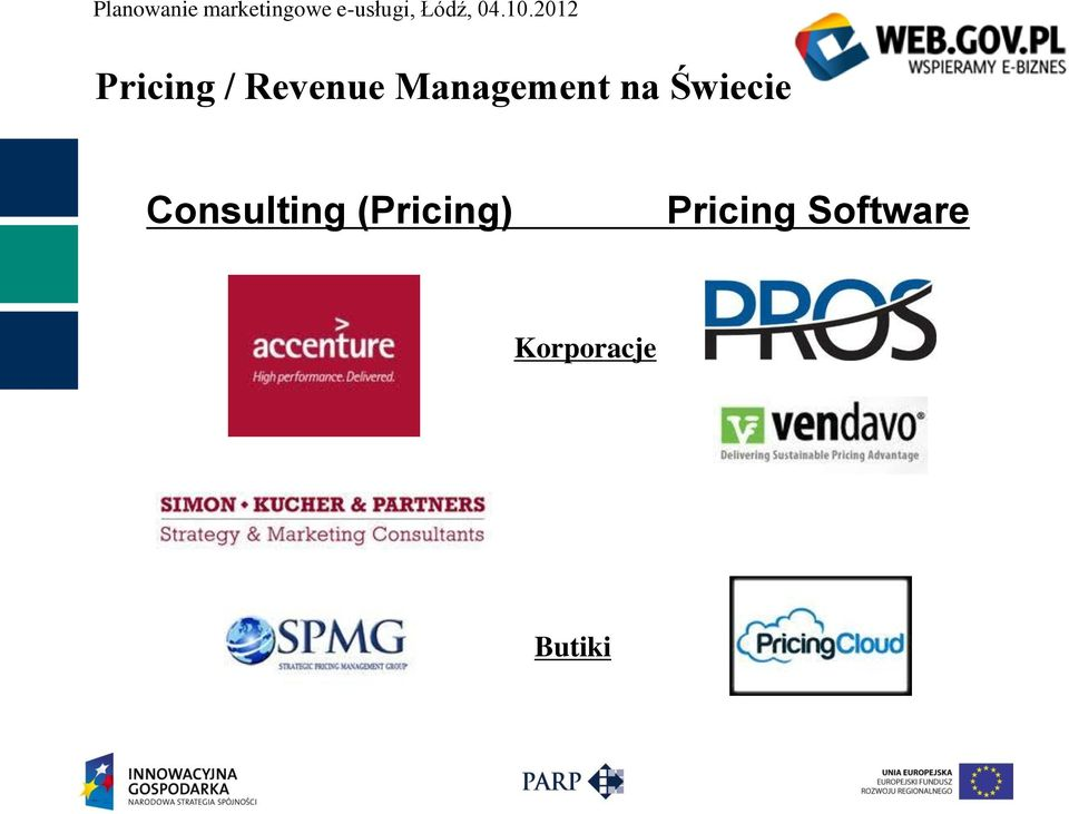 Consulting (Pricing)
