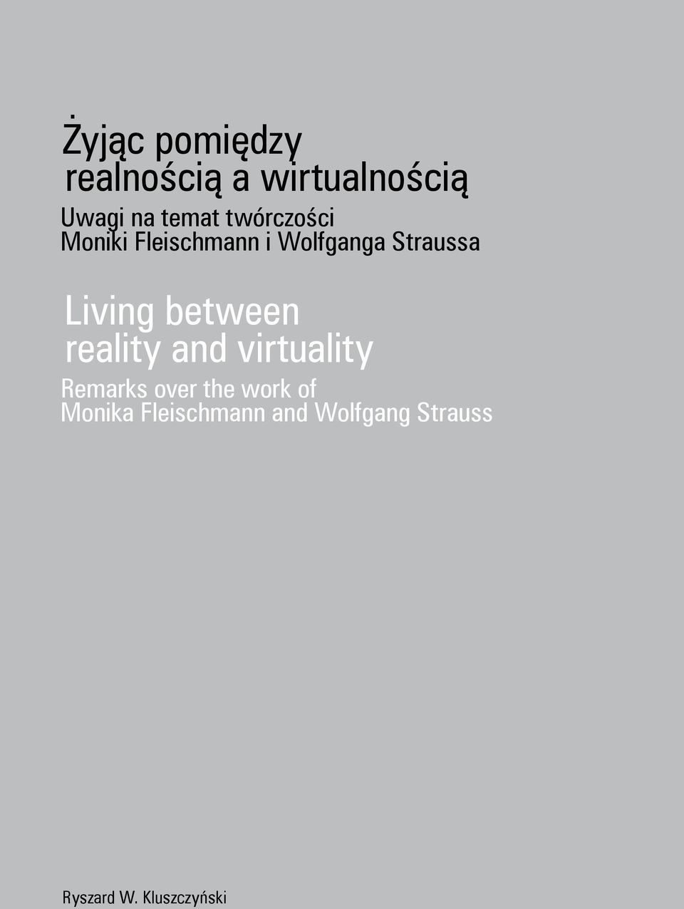 between reality and virtuality Remarks over the work of