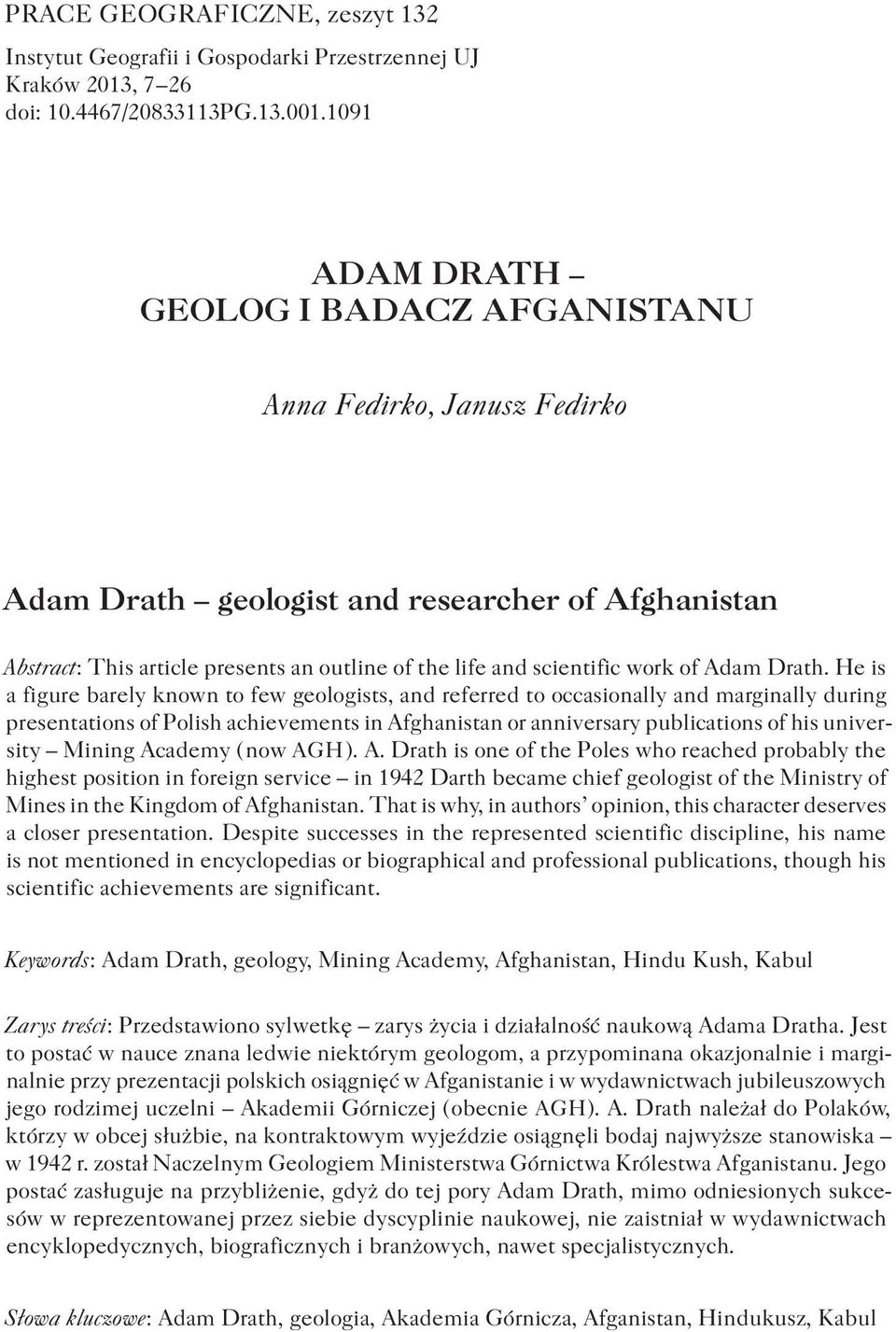 of Adam Drath.