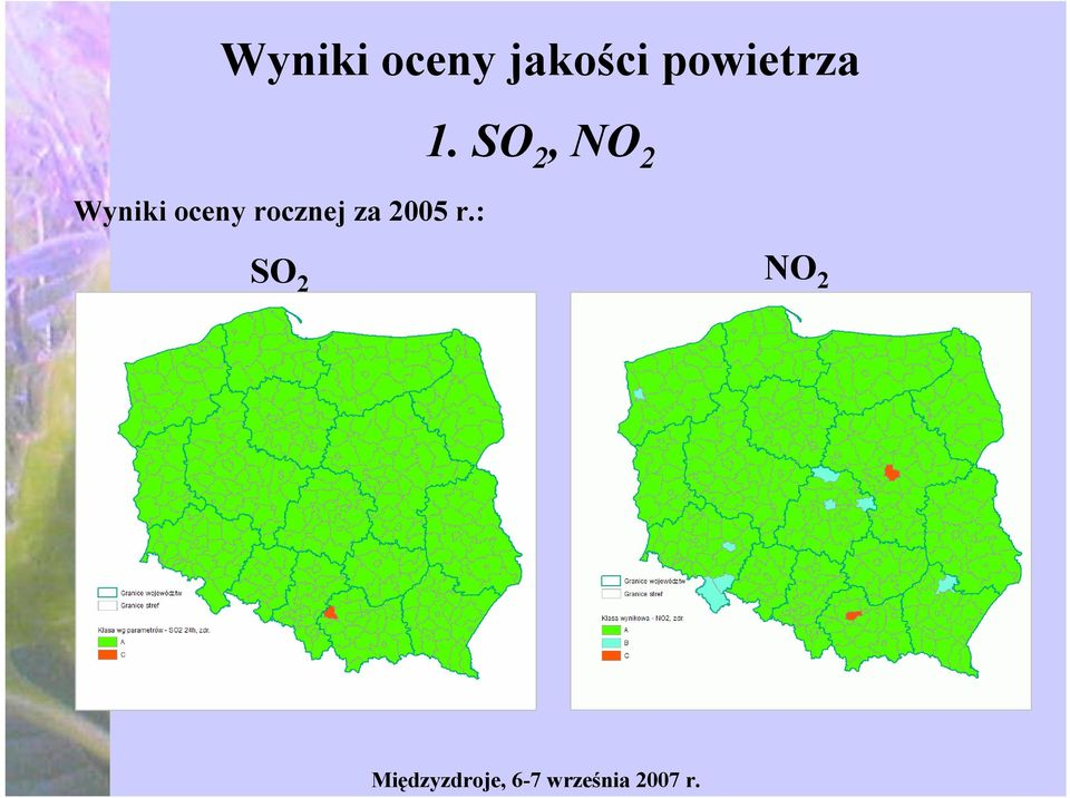 SO 2, NO 2 Wyniki
