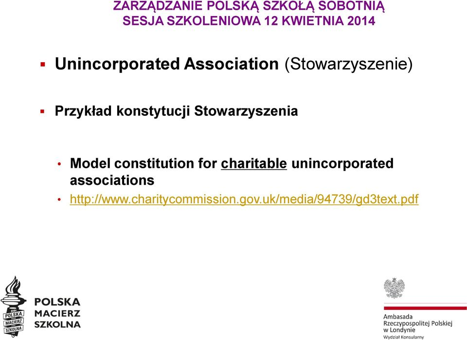 constitution for charitable unincorporated