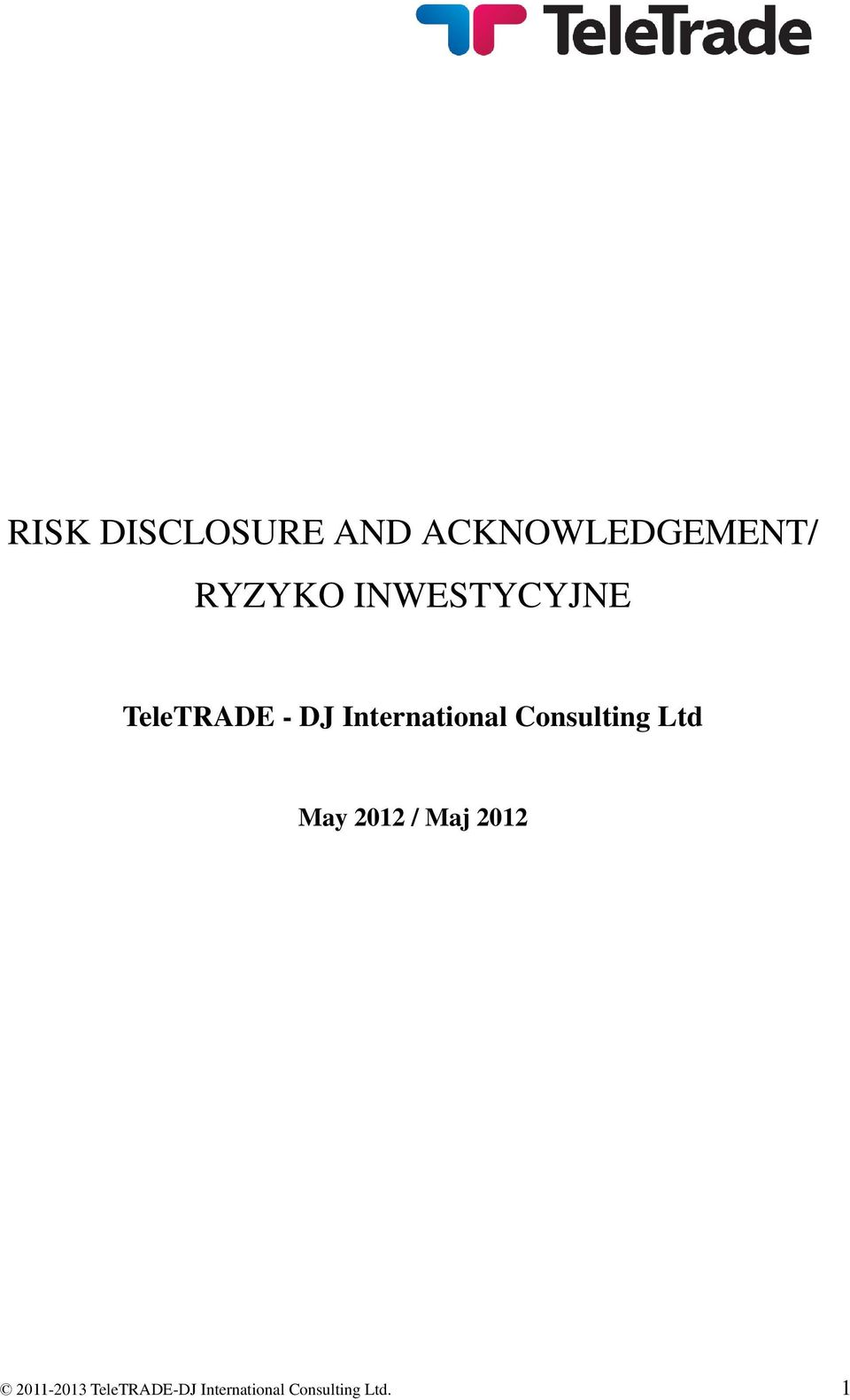 Consulting Ltd May 2012 / Maj 2012