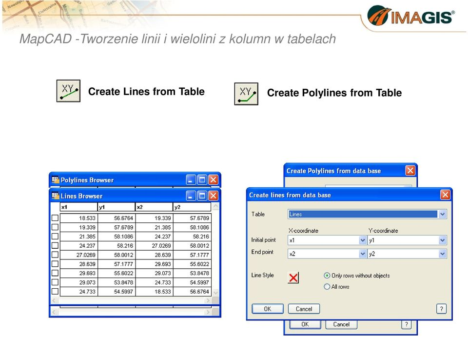 tabelach Create Lines from