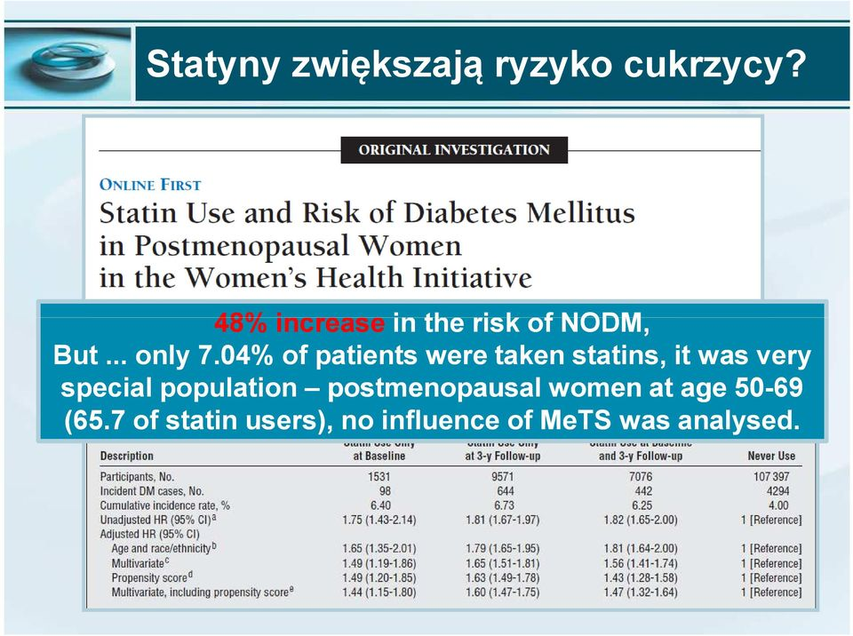 04% of patients were taken statins, it was very special