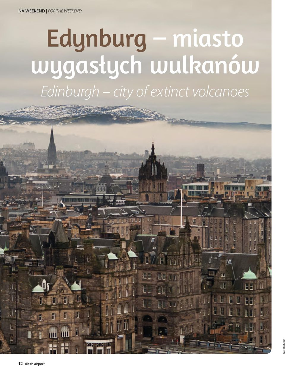 wulkanów Edinburgh city of