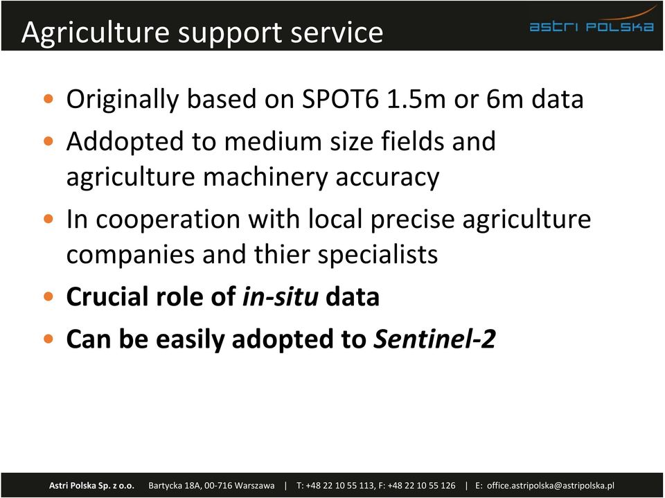 machinery accuracy In cooperation with local precise agriculture