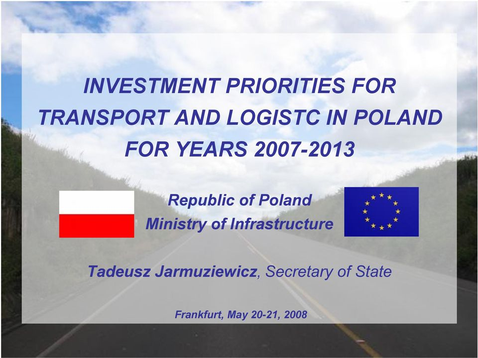 Poland Ministry of Infrastructure Tadeusz