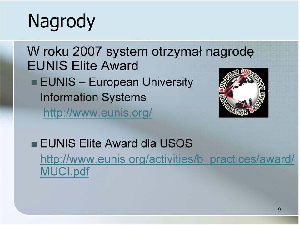 Systems http://www.eunis.