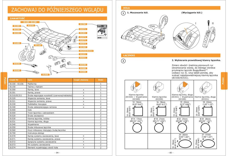 Handleiding Manual do proprietário 説明書 사용설명서 Instrukcja obsługi II Modell / Model / Modelo / Modèle / Modelo / 型號 / 모델 : 8574 BUGGYBOARD-MINI BuggyBoard is a registered trademark and is protected by