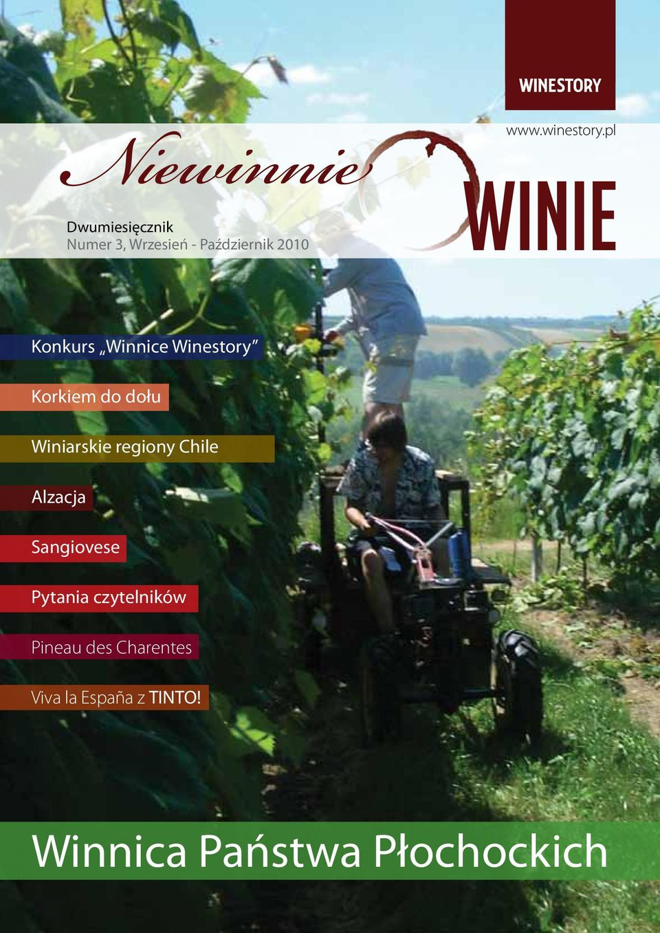 Konkurs Winnice Winestory Korkiem do dołu Winiarskie regiony