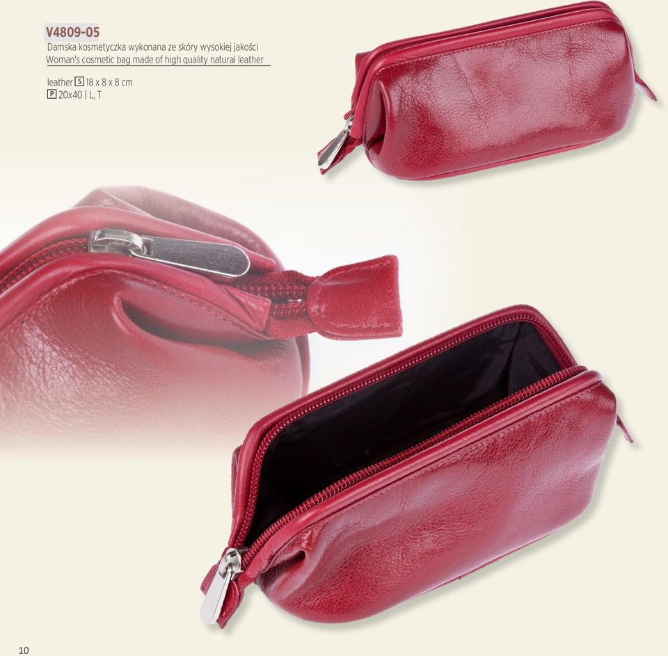 cosmetic bag made of high quality