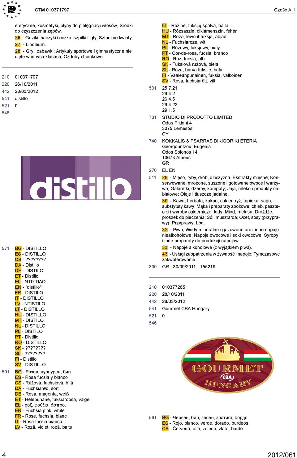 "??????? DA - Distillo - DISTILO ET - Distillo EL - ΝΤΙΣΤΙΛΟ EN - ""distillo"" FR - DISTILO IT - DISTILLO LV - NTISTILO LT - DISTILLO HU - DISTILLO MT - DISTILO NL - DISTILLO PL - DISTILO PT - Distillo"