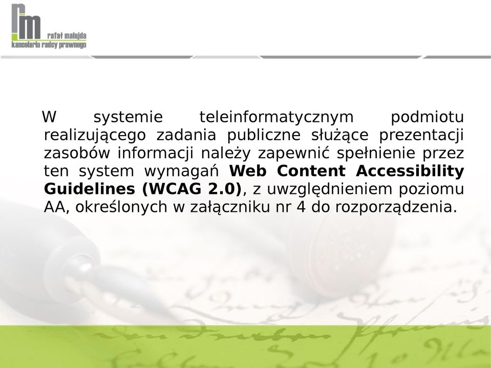 ten system wymagań Web Content Accessibility Guidelines (WCAG 2.