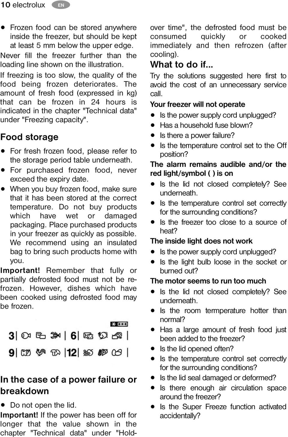 "The amount of fresh food (expressed in kg) that can be frozen in 24 hours is indicated in the chapter ""Technical data"" under ""Freezing capacity""."