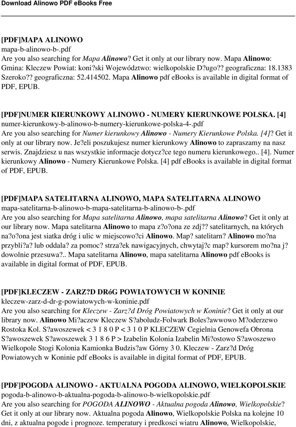 [4] numer-kierunkowy-b-alinowo-b-numery-kierunkowe-polska-4-.pdf Are you also searching for Numer kierunkowy Alinowo - Numery Kierunkowe Polska. [4]? Get it only at our library now. Je?