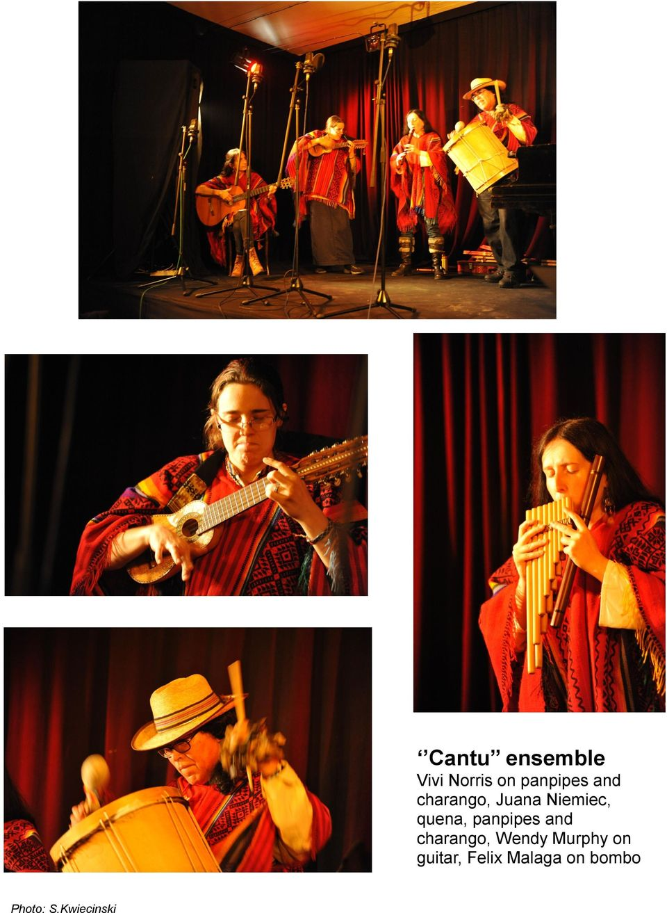 panpipes and charango, Wendy Murphy on