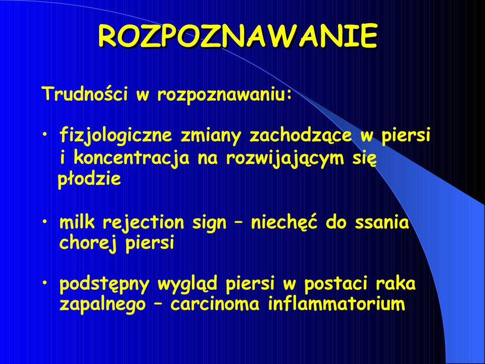 milk rejection sign niechęć do ssania chorej piersi podstępny