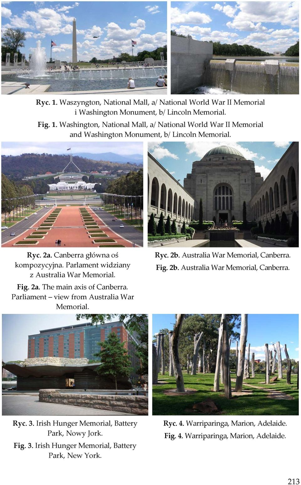 Ryc. 2b. Australia War Memorial, Canberra. Fig. 2b. Australia War Memorial, Canberra. Ryc. 3. Irish Hunger Memorial, Battery Park, Nowy Jork. Fig. 3. Irish Hunger Memorial, Battery Park, New York.