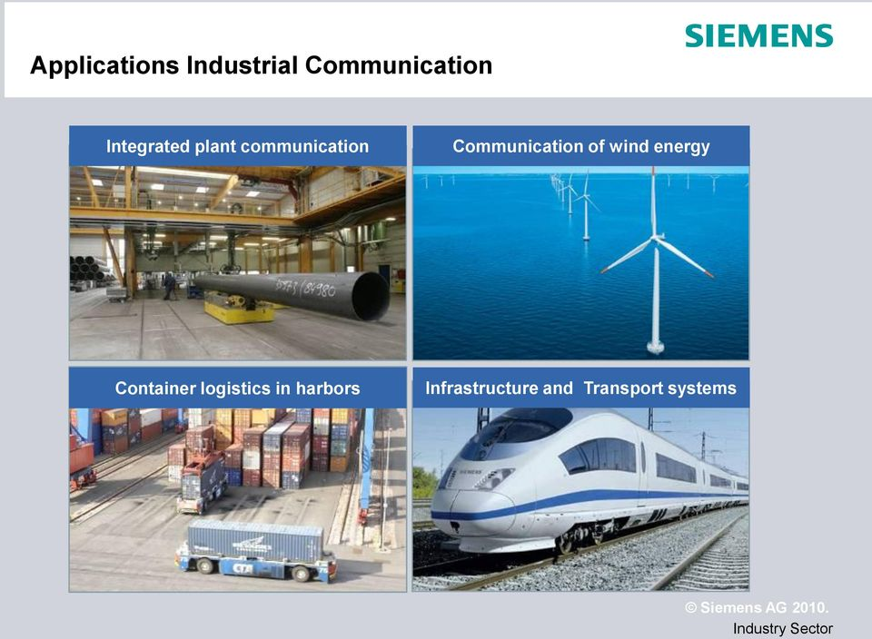 Communication of wind energy Container
