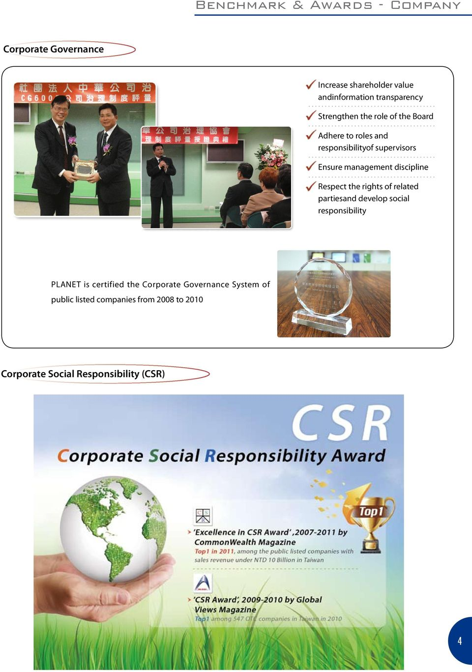 discipline Respect the rights of related partiesand develop social responsibility PLANET is certified the