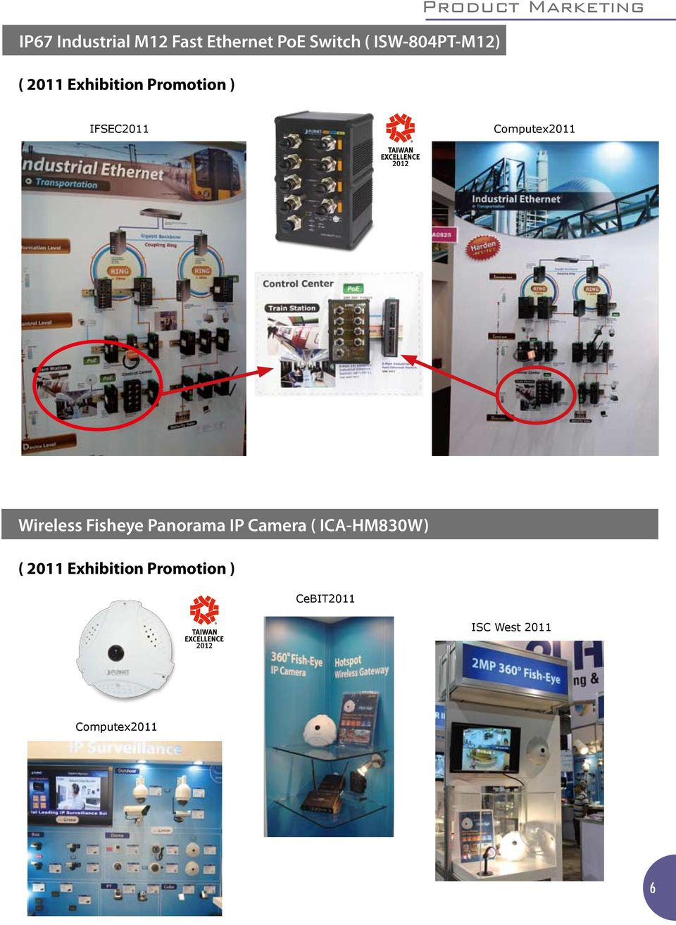 Computex2011 Wireless Fisheye Panorama IP Camera ( ICA-HM830W)