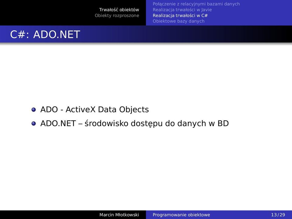 Data Objects ADO.