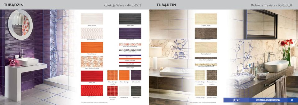 Orange Glass Red 4 Glass Grey 4 listwa Traviata Ornament Wave red Wave Orange mozaika Wave Orange Wave Violet Traviata Beige