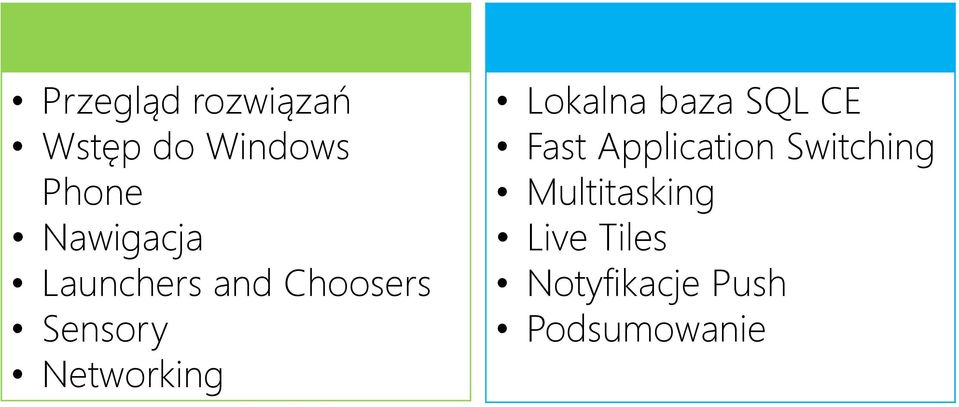 Networking Lokalna baza SQL CE Fast Application