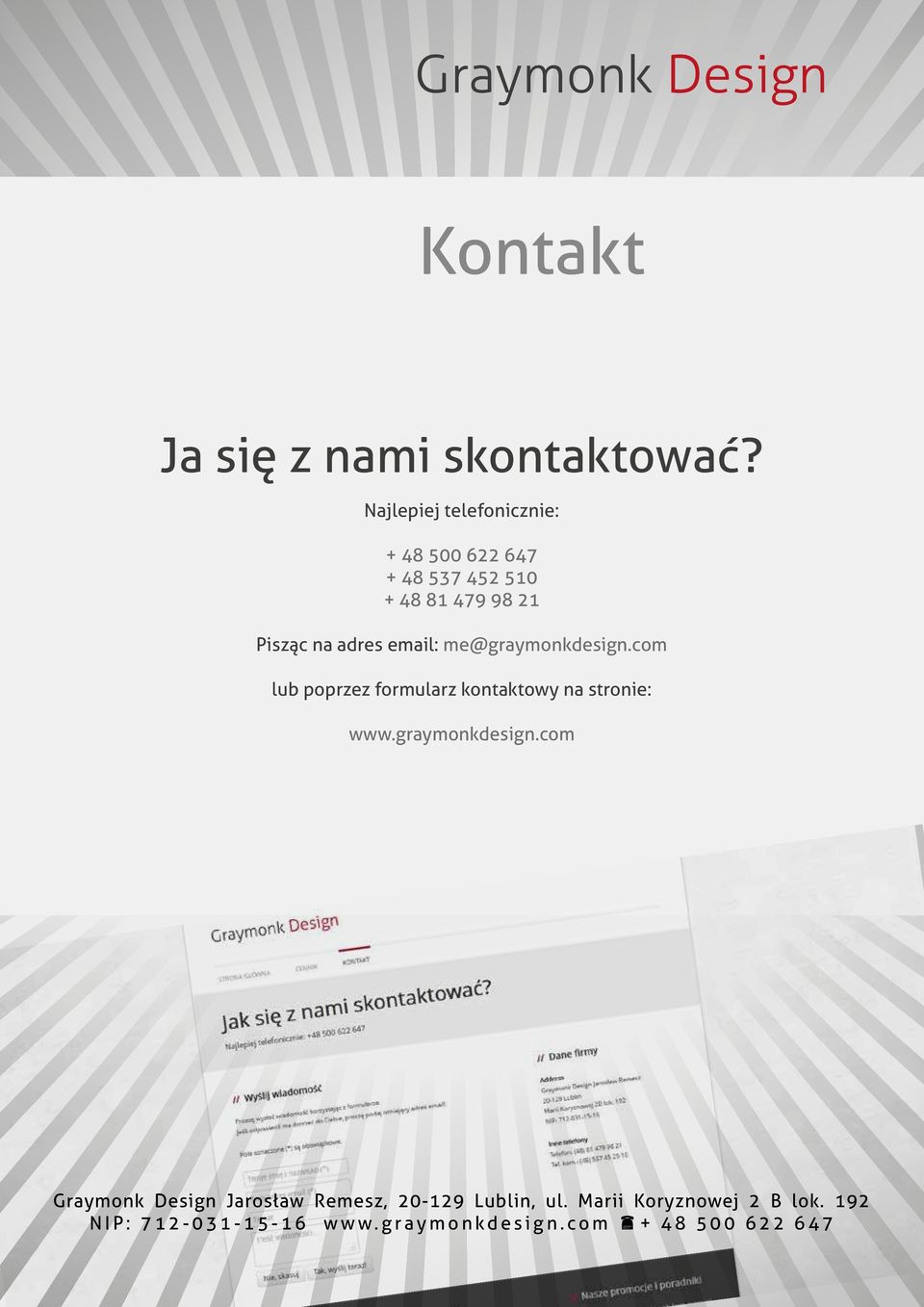 510 + 48 81 479 98 21 Pisząc na adres email: