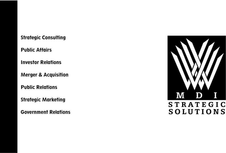 Relations Strategic Marketing Government