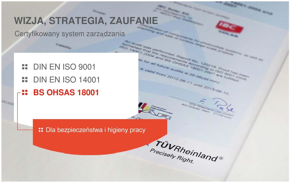 ISO 14001 BS OHSAS 18001 For Dla