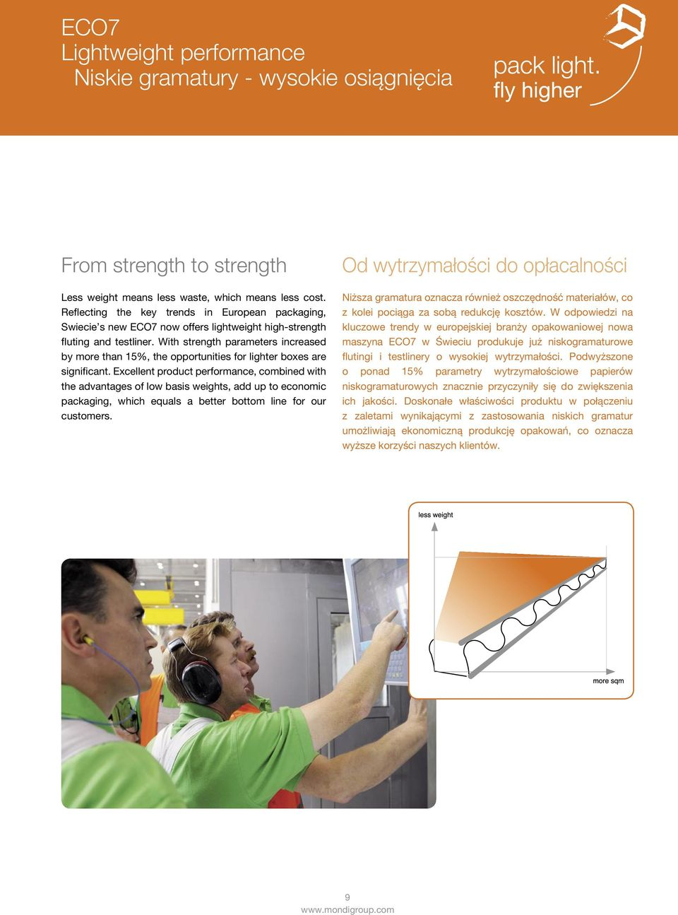 With strength parameters increased by more than 15%, the opportunities for lighter boxes are significant.