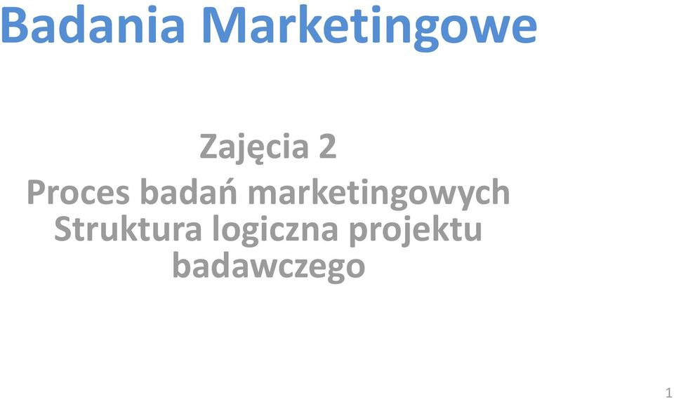marketingowych Struktura