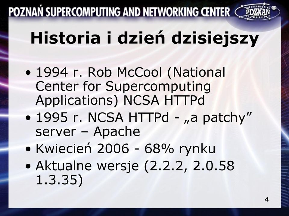 Applications) NCSA HTTPd 1995 r.