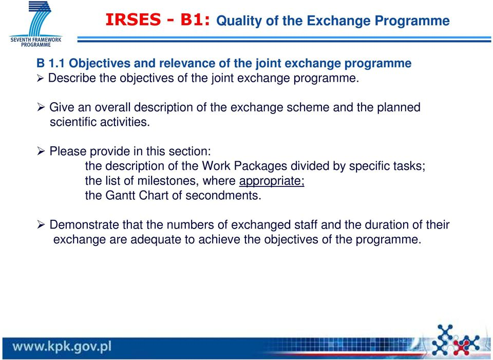 Give an overall description of the exchange scheme and the planned scientific activities.