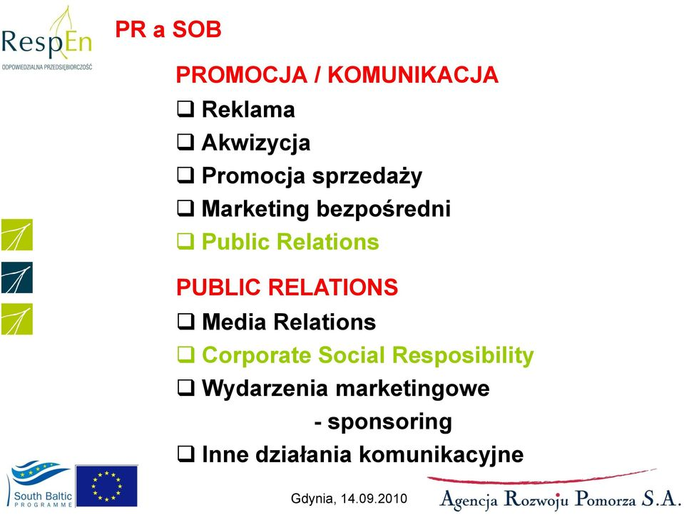 RELATIONS Media Relations Corporate Social Resposibility