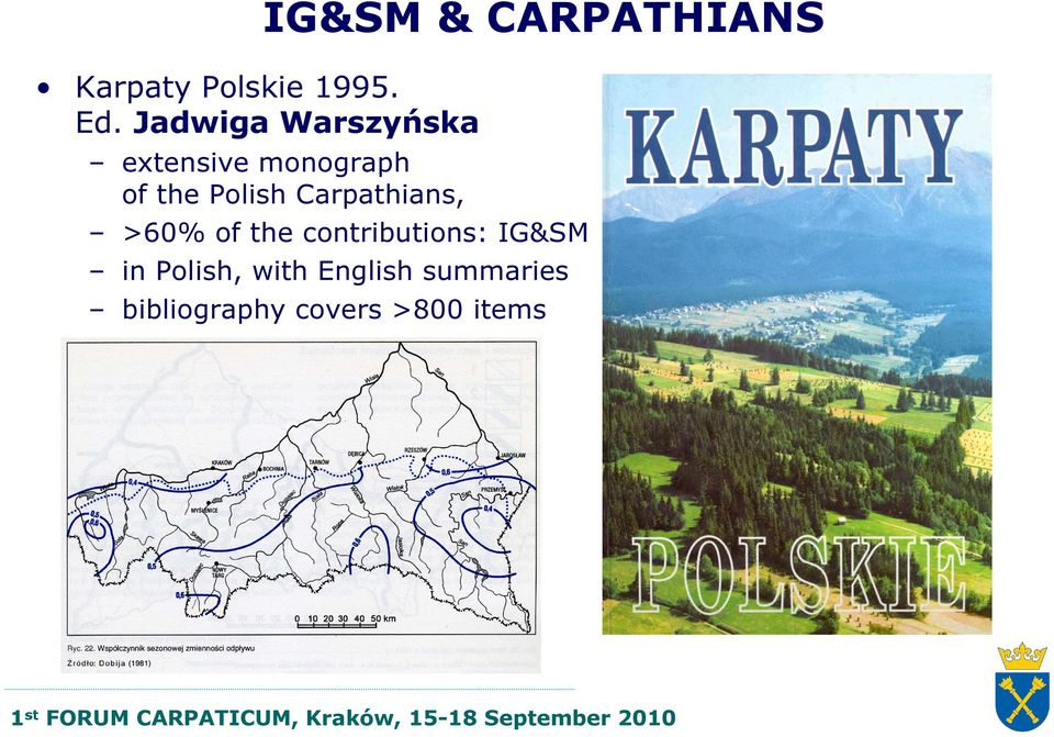 monograph of the Polish Carpathians, >60% of the