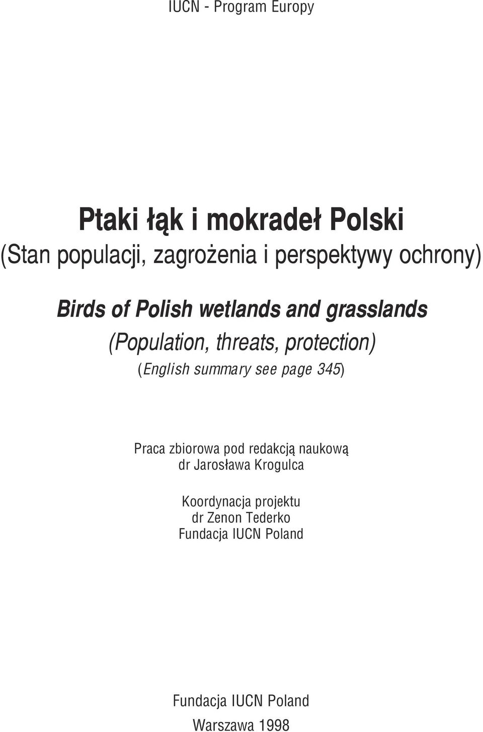 protection) (English summary see page 345) Praca zbiorowa pod redakcj¹ naukow¹ dr