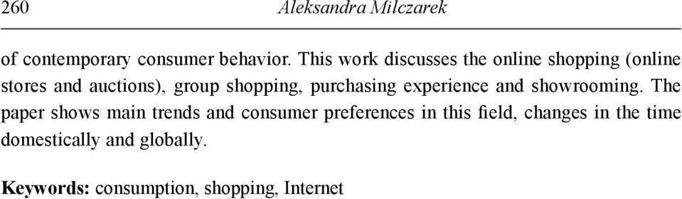 purchasing experience and showrooming.