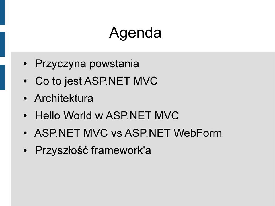 NET MVC Architektura Hello World w