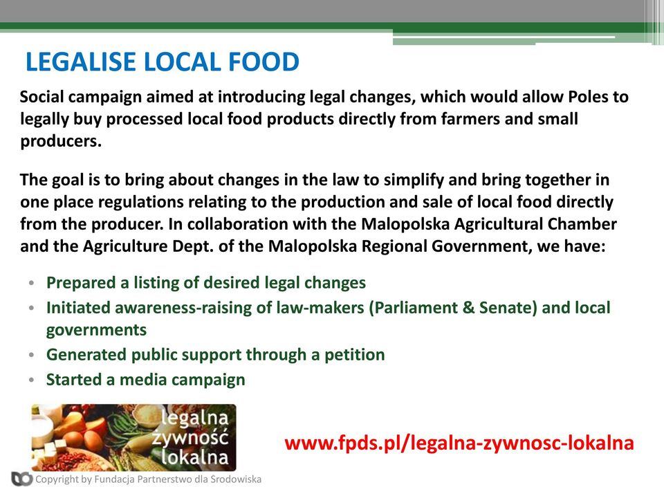 In collaboration with the Malopolska Agricultural Chamber and the Agriculture Dept.