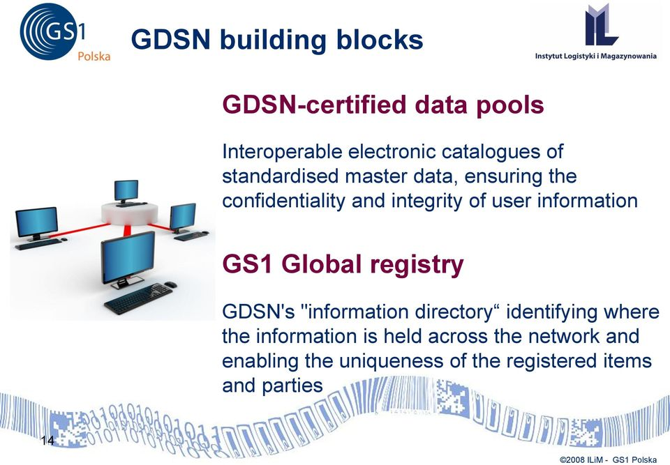 "information GS1 Global registry GDSN's ""information directory identifying where the"