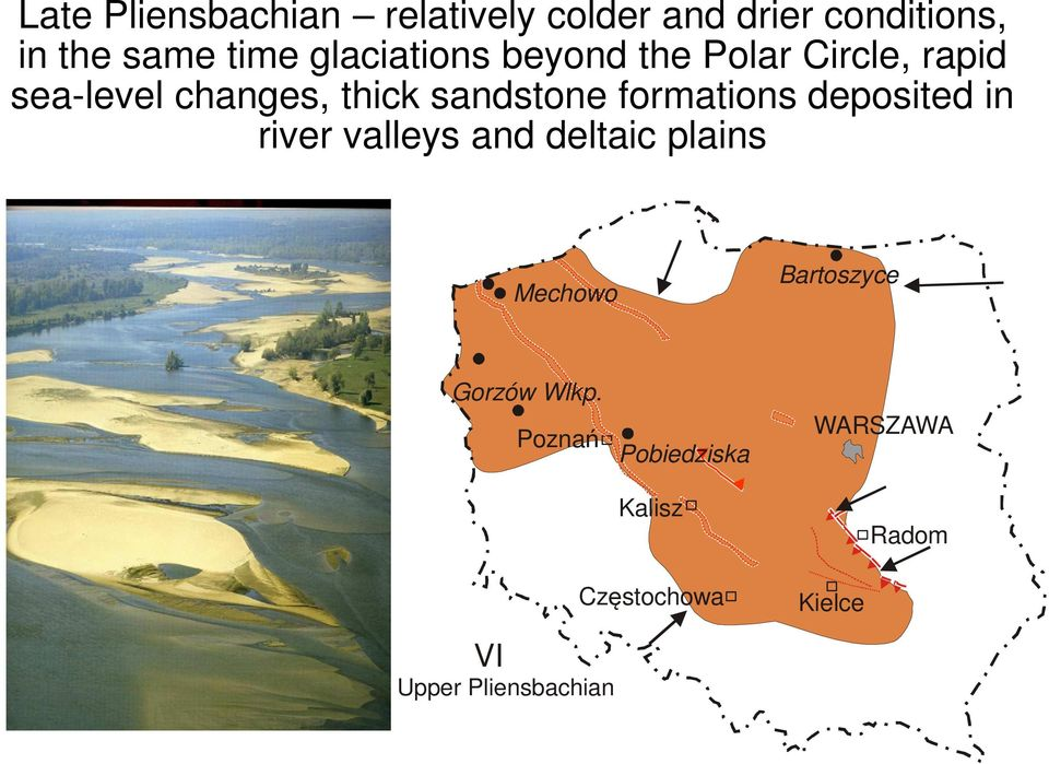 formations deposited in river valleys and deltaic plains Mechowo Bartoszyce