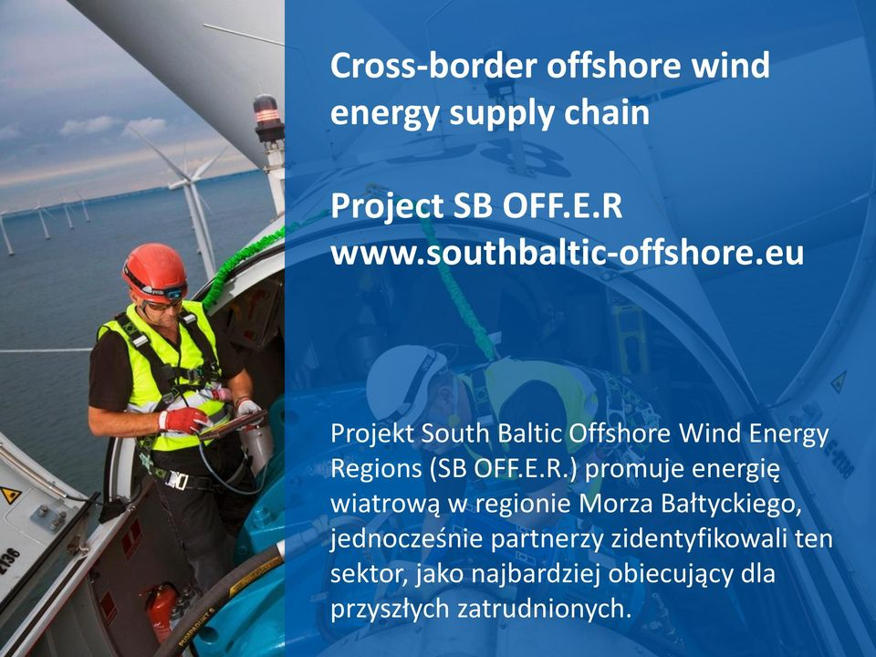 eu Projekt South Baltic Offshore Wind Energy Re